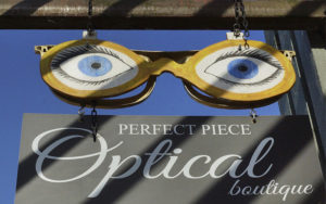 Perfect Piece Optical Boutique - west facing exterior sign