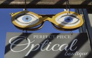 Perfect Piece Optical Boutique - west facing exterior sign