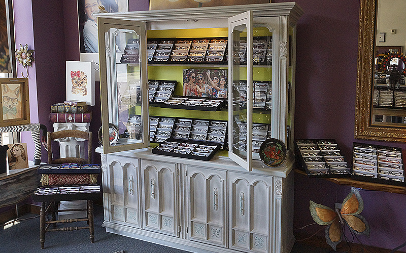 Perfect Piece Optical Boutique -north east wall display cabinet