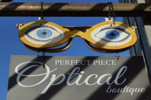 Perfect Piece Optical Boutique exterior west-facing sign
