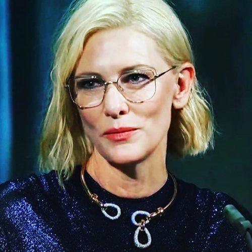"""Cate Blanchette wearing Etnia Barcelona """"Chrysler"""" design eyeglasses"""